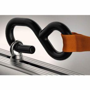 Single 800kg External Ratchet Strap & 1x Pair Of S/Steel Eye Bolts